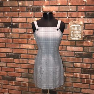 ☁️🖤Gray Buckle Front Cute Fall Dress